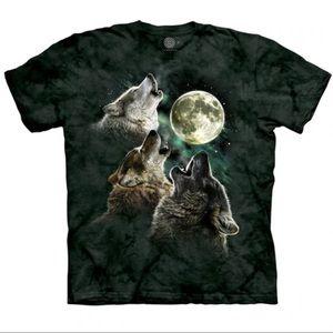 The Mountain Wolf Moon Howl Tie Dye Unisex T-Shirt